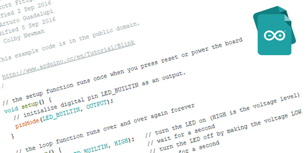 The 4 basic sections of an Arduino sketch