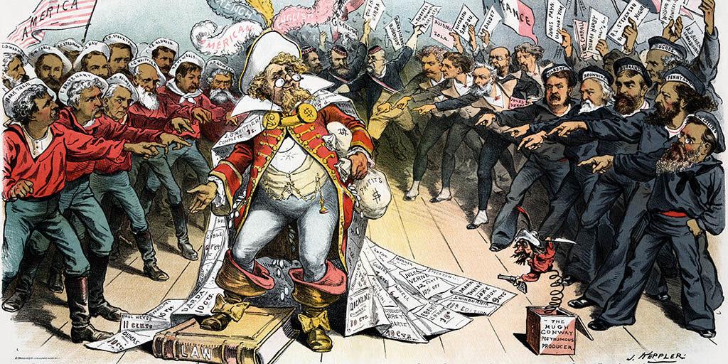 The Pirate Publisher from Puck Magazine by Joseph Ferdinand Keppler - Restoration by Adam Cuerden