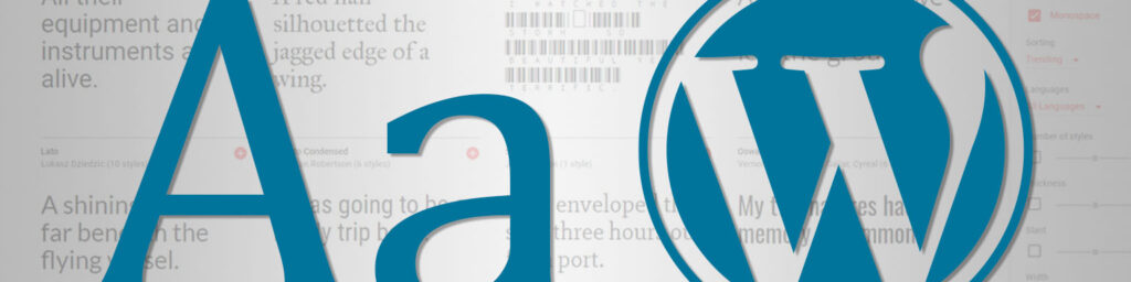 Adding fonts to a WordPress site