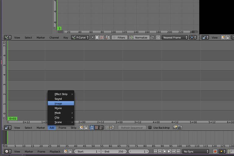 Blender adding images to video editor