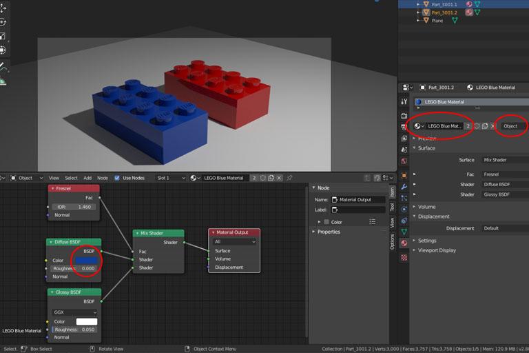 Blender object link
