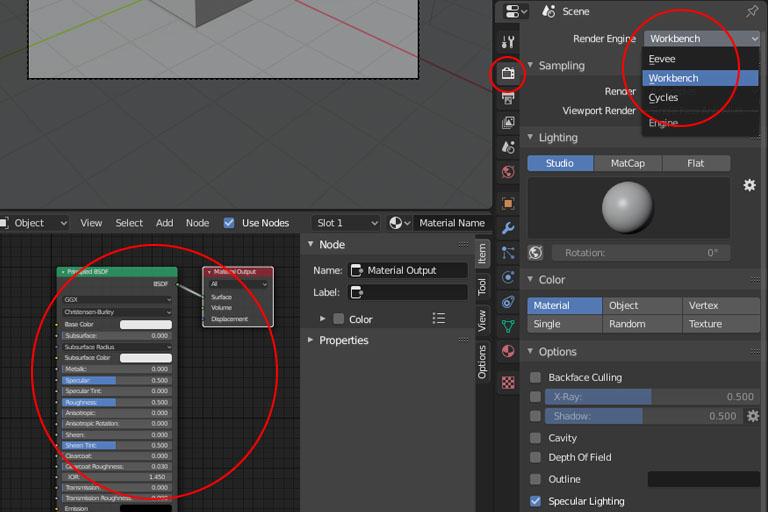 Blender render engine selection