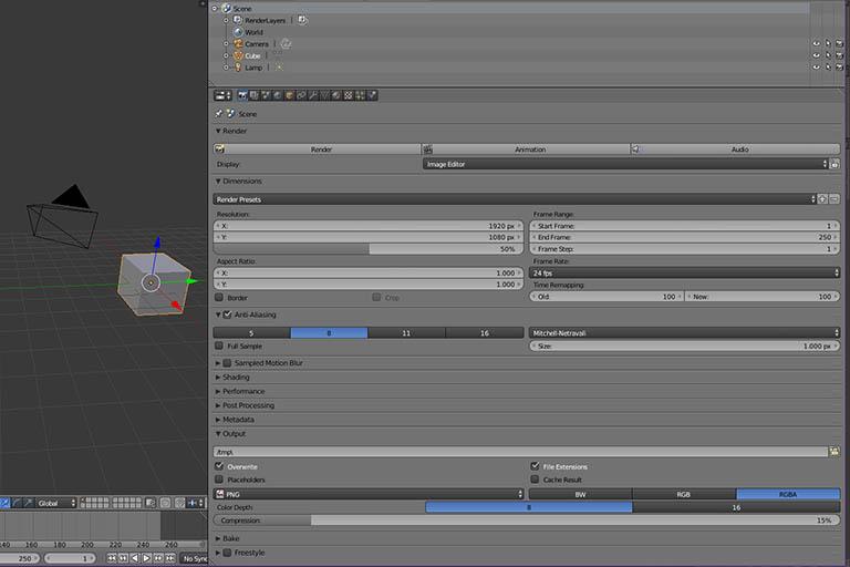 Blender render settings