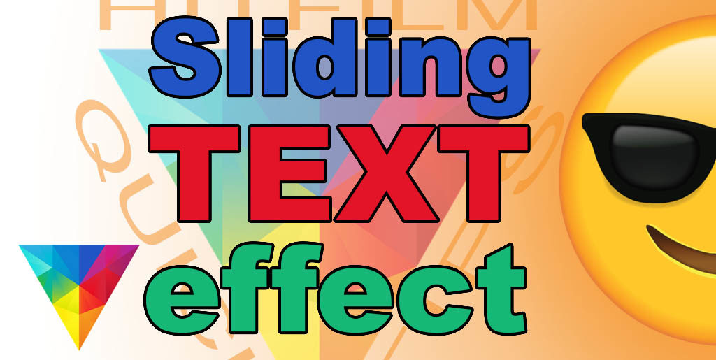Creating a sliding text effect with HitFilm Express