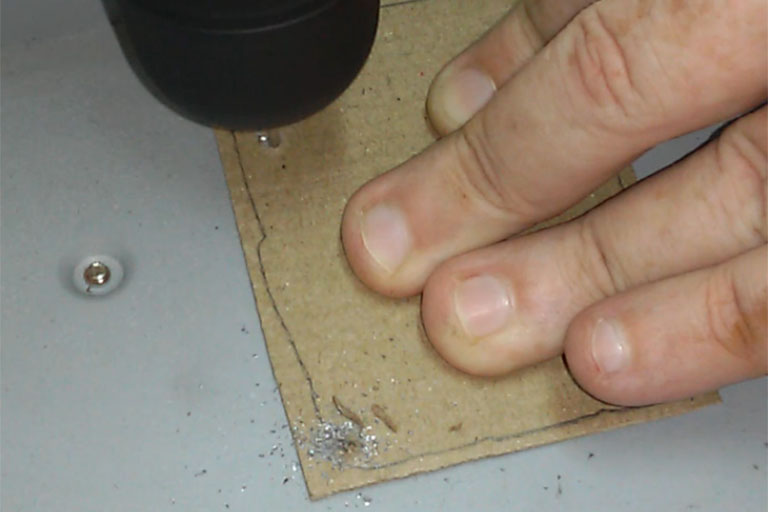 Drilling holes in a PC chassis