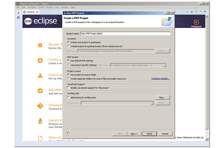 Eclipse project creator