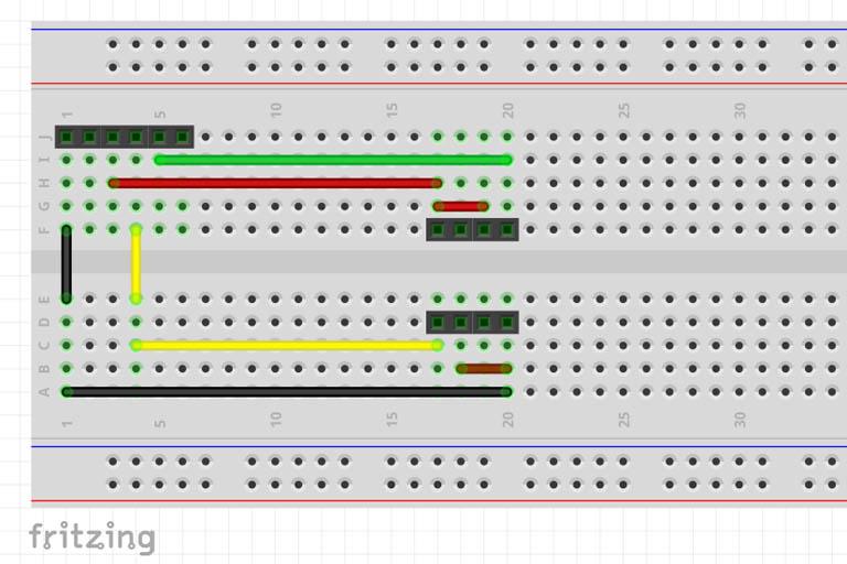 ESP8266 breadboard connections