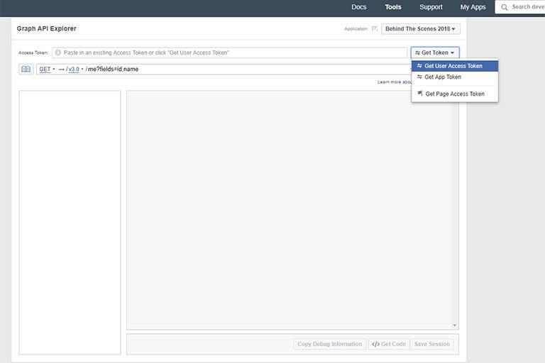 Get a Facebook user access token