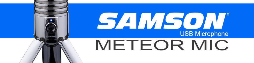 First impressions on the SAMSON Meteor Mic USB Microphone