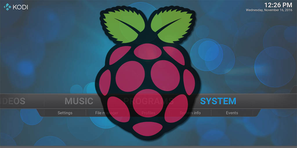 Installing Kodi on a Raspberry Pi