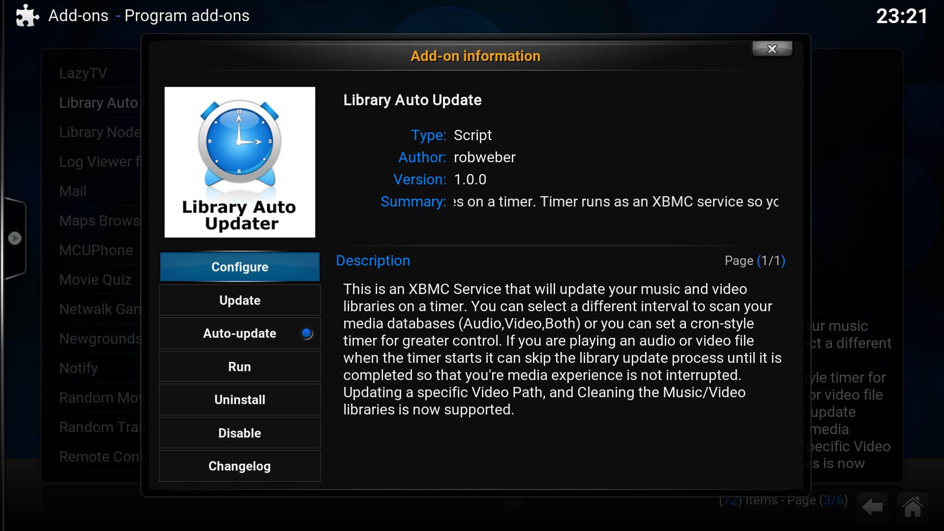 Kodi Library Auto Updater