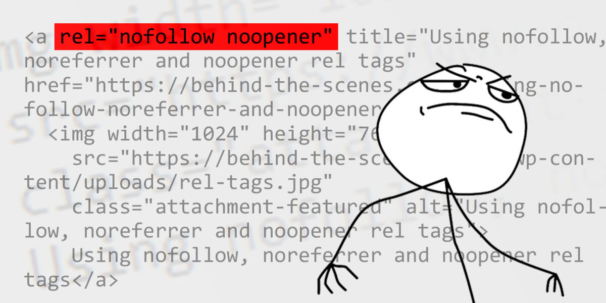 Nofollow, noreferrer and noopener rel attribute values