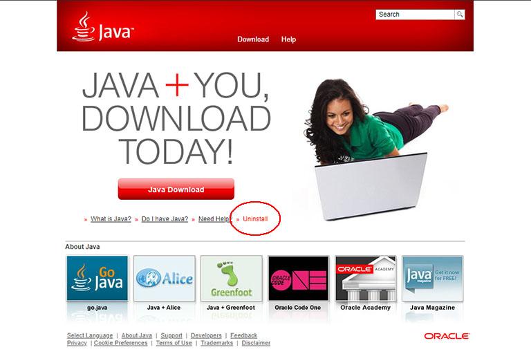 Oracle Java Uninstall Tool