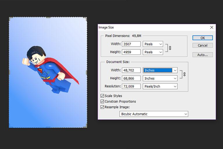 Print settings PhotoShop