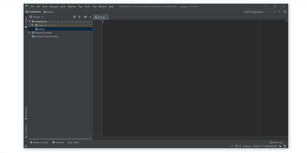 PyCharm Python file