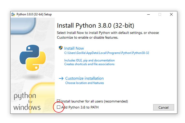 Python Windows installer