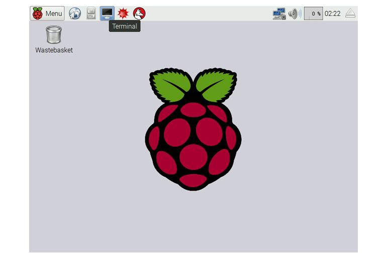 Raspbian GUI terminal icon