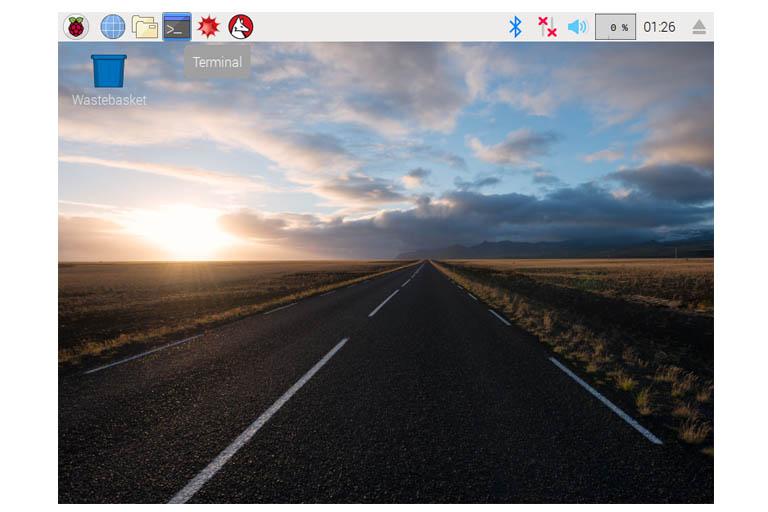 Raspbian Stretch GUI terminal