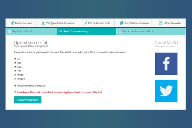 Simple Online Web Font Converter