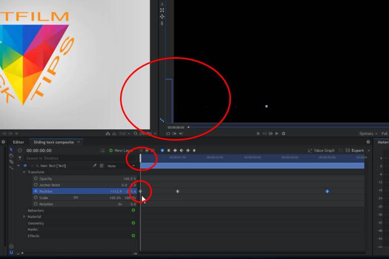 Creating a sliding text effect in HitFilmExpress 12