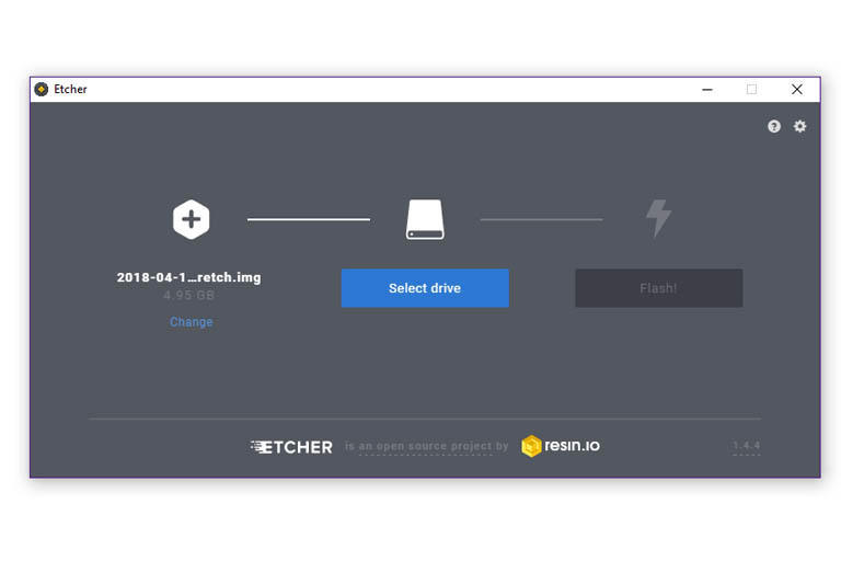 Using Etcher to flash a Raspberry Pi image to a SDcard