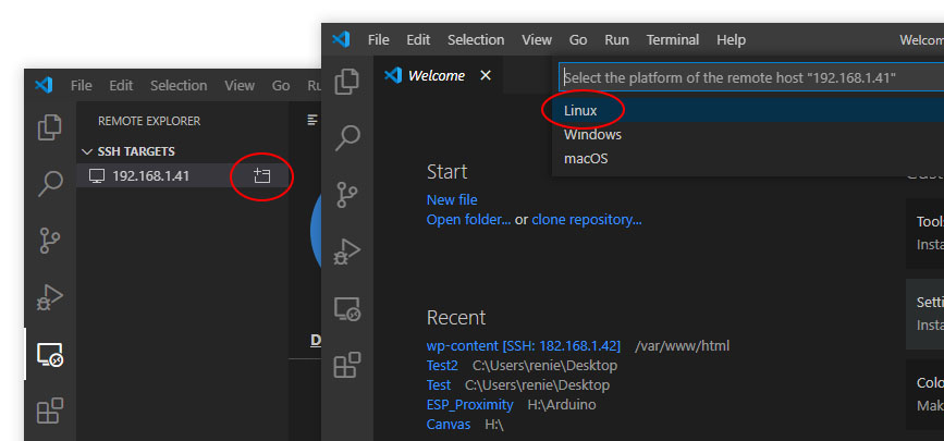 VS Code Remote-SSH SSH connection