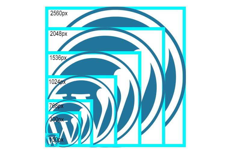 WordPress efault image sizes