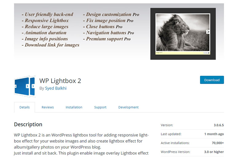 The WP Lighbox 2 plugin